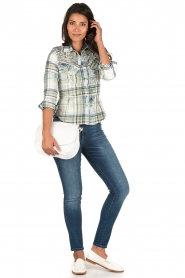 Dishe Jeans | Geruite blouse Stacey | groen  | Afbeelding 3
