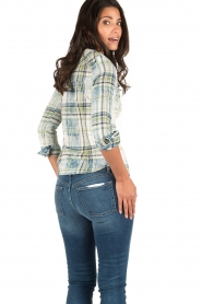 Dishe Jeans | Geruite blouse Stacey | groen  | Afbeelding 5