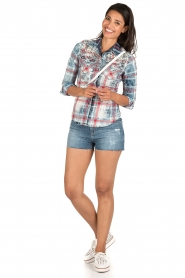 Dishe Jeans   Geruite blouse Stacey   blauw    Afbeelding 3