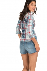 Dishe Jeans   Geruite blouse Stacey   blauw    Afbeelding 5