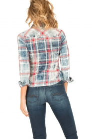 Dishe Jeans | Geruite blouse Stacey | blauw  | Afbeelding 4