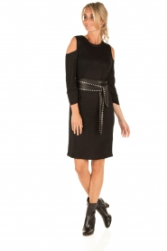 IRO |  Linen dress Girvin | black  | Picture 6