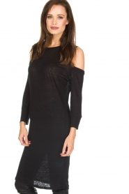 IRO |  Linen dress Girvin | black  | Picture 4