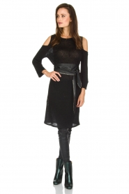 IRO |  Linen dress Girvin | black  | Picture 3