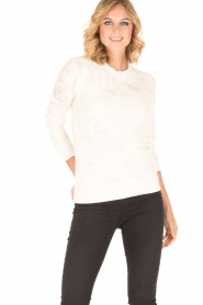 IRO | Destroyed sweater Cyzique | wit  | Afbeelding 2