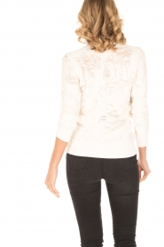 IRO | Destroyed sweater Cyzique | wit  | Afbeelding 5