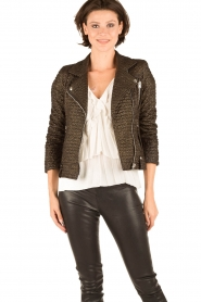 IRO |  Biker jacket Camy | black  | Picture 2