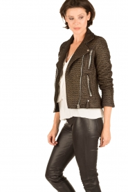 IRO |  Biker jacket Camy | black  | Picture 4