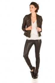 IRO |  Biker jacket Camy | black  | Picture 3
