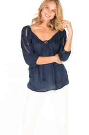 BEACHGOLD |  Tunic blouse Maisey | indigoblue  | Picture 2