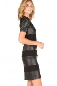 Arma | Leren jurk Bordey | zwart  | Afbeelding 4