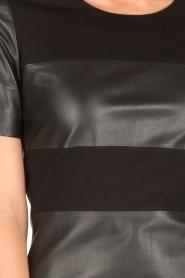 Arma | Leren jurk Bordey | zwart  | Afbeelding 6