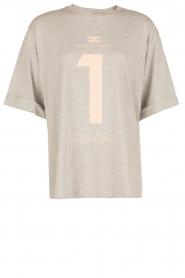 ELISABETTA FRANCHI   Oversized T-shirt Grigio Melange   grijs    Afbeelding 1