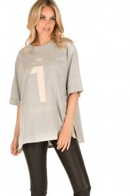 ELISABETTA FRANCHI | Oversized T-shirt Grigio Melange | grijs  | Afbeelding 2