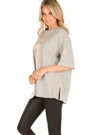 ELISABETTA FRANCHI   Oversized T-shirt Grigio Melange   grijs    Afbeelding 4