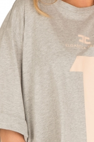ELISABETTA FRANCHI | Oversized T-shirt Grigio Melange | grijs  | Afbeelding 7