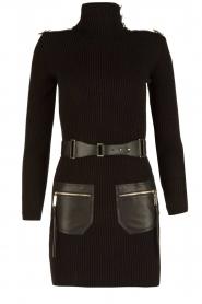 ELISABETTA FRANCHI | Jurk met col Cintura | zwart  | Afbeelding 1