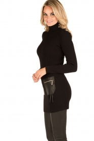 ELISABETTA FRANCHI | Jurk met col Cintura | zwart  | Afbeelding 4