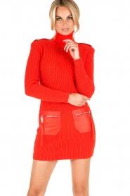 ELISABETTA FRANCHI | Jurk met col Cintura | rood  | Afbeelding 8