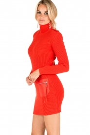 ELISABETTA FRANCHI | Jurk met col Cintura | rood  | Afbeelding 9