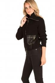ELISABETTA FRANCHI | Vest Rosa Antico | zwart  | Afbeelding 3