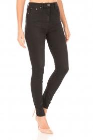 ELISABETTA FRANCHI | High waist Jeans Sottile | zwart  | Afbeelding 4