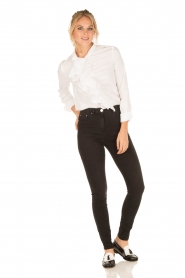 ELISABETTA FRANCHI | High waist Jeans Sottile | zwart  | Afbeelding 7