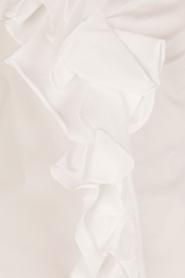 ELISABETTA FRANCHI | Blouse met ruffles Bianco | wit  | Afbeelding 6