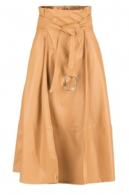 Faux leather skirt Piega | camel
