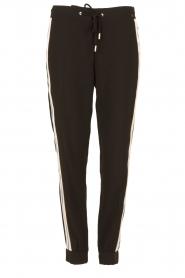 ELISABETTA FRANCHI | Pantalon met zijstrepen Linea | zwart  | Afbeelding 1