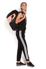 ELISABETTA FRANCHI | Pantalon met zijstrepen Linea | zwart  | Afbeelding 3