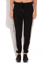 ELISABETTA FRANCHI | Pantalon met zijstrepen Linea | zwart  | Afbeelding 4