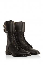 ELISABETTA FRANCHI | Leren laarzen Rischi | zwart  | Afbeelding 3