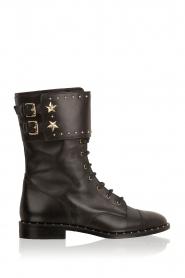 ELISABETTA FRANCHI | Leren laarzen Rischi | zwart  | Afbeelding 1