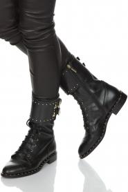ELISABETTA FRANCHI   Leren laarzen Rischi   zwart    Afbeelding 2