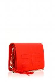 ELISABETTA FRANCHI | Schoudertas logo Anika | rood  | Afbeelding 3