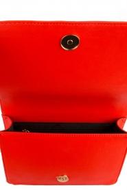 ELISABETTA FRANCHI | Schoudertas logo Anika | rood  | Afbeelding 5