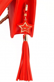ELISABETTA FRANCHI | Schoudertas logo Anika | rood  | Afbeelding 6
