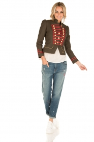 La Condesa |  Blazer Beatle | army green/red  | Picture 3