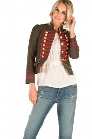 La Condesa |  Blazer Beatle | army green/red  | Picture 6