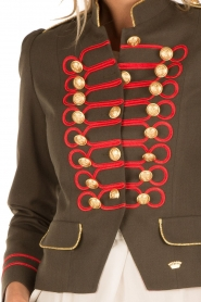 La Condesa |  Blazer Beatle | army green/red  | Picture 7
