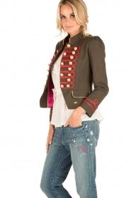 La Condesa |  Blazer Beatle | army green/red  | Picture 4