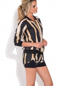 Deblon Sports | Sportshort Zebra | zwart/goud  | Afbeelding 4