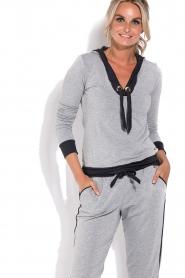 Deblon Sports | Sport trui Hermes | grijs  | Afbeelding 2