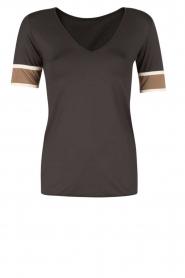 Deblon Sports | T-shirt Kate | zwart/goud  | Afbeelding 1