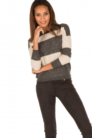 Ruby Tuesday |  Woolen sweater Farreb | grey  | Picture 2