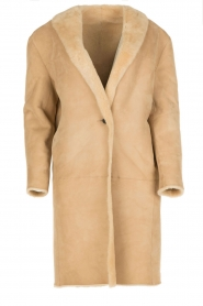 Ruby Tuesday | Tweezijdige lammy coat Winona | camel  | Afbeelding 1