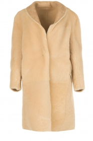 Ruby Tuesday | Tweezijdige lammy coat Winona | camel  | Afbeelding 6