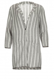Ruby Tuesday |  Striped blazer Odesa | grey  | Picture 1