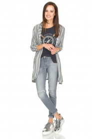 Ruby Tuesday |  Striped blazer Odesa | grey  | Picture 6